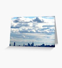 Clouds over New York City Greeting Card