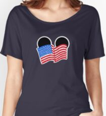 American Flag Ears Women's Relaxed Fit T-Shirt