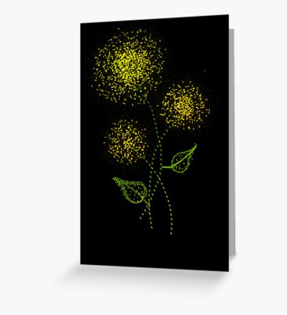 Dandelion Fireworks Greeting Card