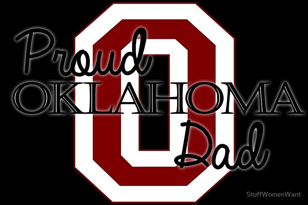 Proud Oklahoma Dad 2 for Dark Backgrounds by StuffWomenWant