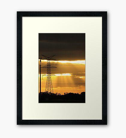 Power Of The Sun Framed Print