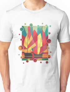 Happy Father's Day Cubist Abstract of Junk Sails and Ocean Skies T-Shirt
