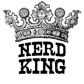 Nerd King Crown Logo (Black Ink) by nerdking