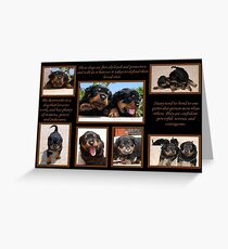 Rottweiler Memories Greeting Card
