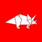 Prehistoric Origami - Triceratops  by SevenHundred