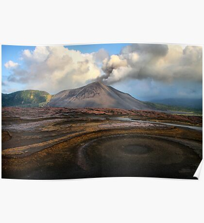 Mt Yasur from the Ash Plains Poster