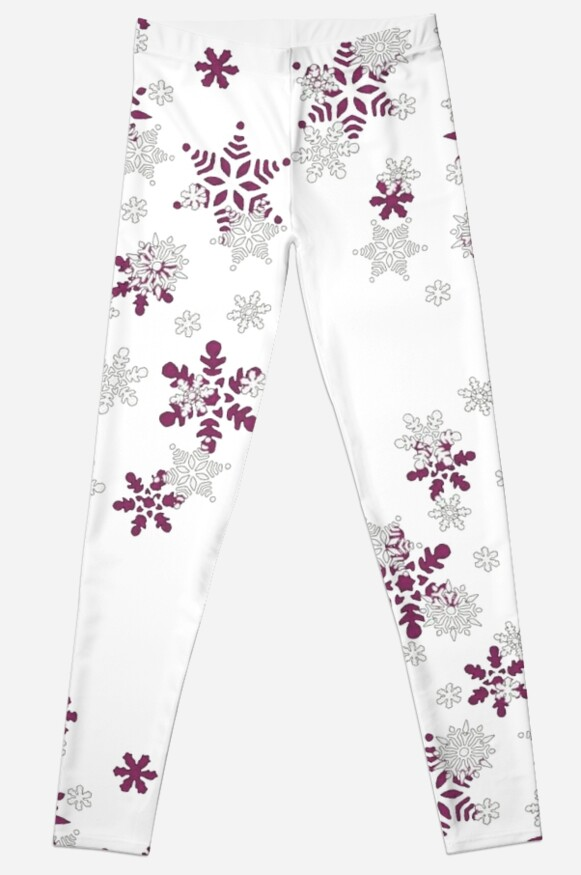 Pink and White Snowflakes With Transparent Background by taiche
