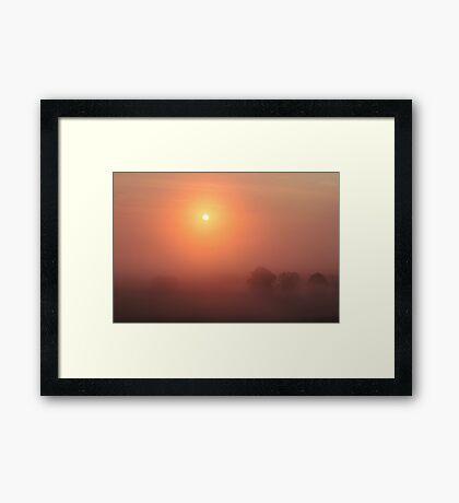 The Sun Before the Burn Framed Print