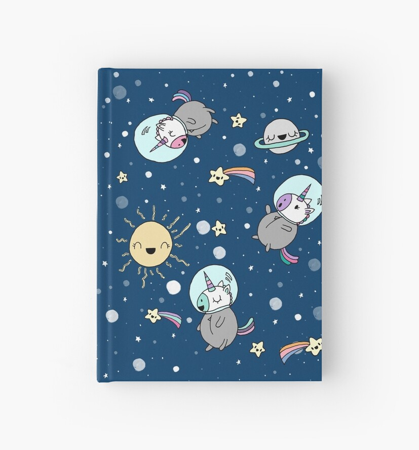 Cute Unicorns in Space by Claudia Ramos