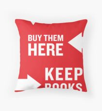 Keep Books Here Throw Pillow