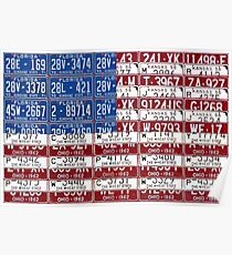 License Plate Flag of the United States 2012 Poster