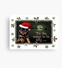 'Tis The Season To Be Jolly Holiday Greetings Canvas Print