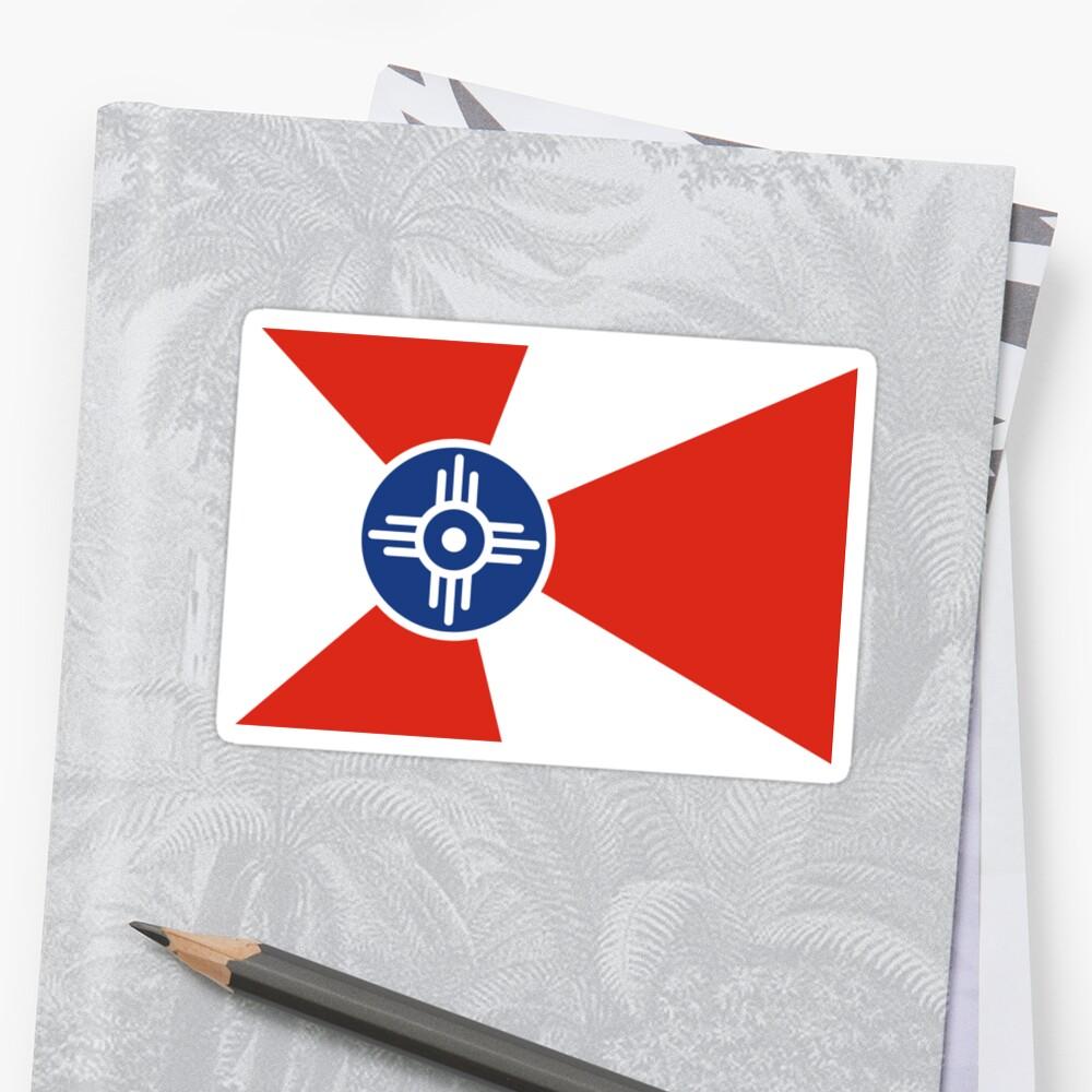 Wichita Kansas Flag USA T-Shirt Cell Phone Case by deanworld