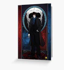 Sherlock Nouveau: Macabre Sherlock Holmes Greeting Card