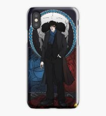 Sherlock Nouveau: Macabre Sherlock Holmes iPhone Case/Skin