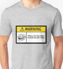 Warning - Trolls Unisex T-Shirt