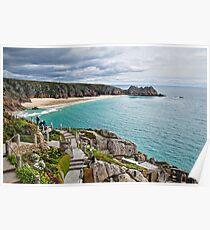Porthcurno From The Minack ~ Cornwall Poster