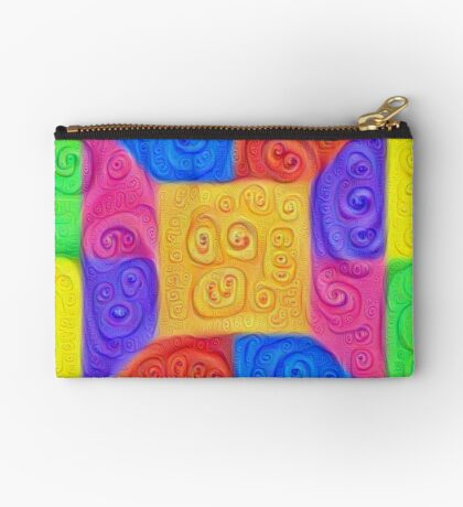 DeepDream Color Squares Visual Areas 5x5K v12 Zipper Pouch