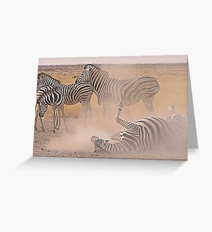 Dust Bath Greeting Card