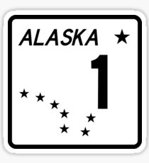 Route 1, Alaska, USA Sticker