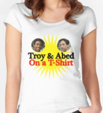 Troy and Abed on a T-Shirt Women's Fitted Scoop T-Shirt