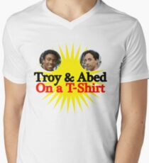 Troy and Abed on a T-Shirt Men's V-Neck T-Shirt