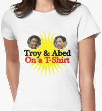 Troy and Abed on a T-Shirt Women's Fitted T-Shirt
