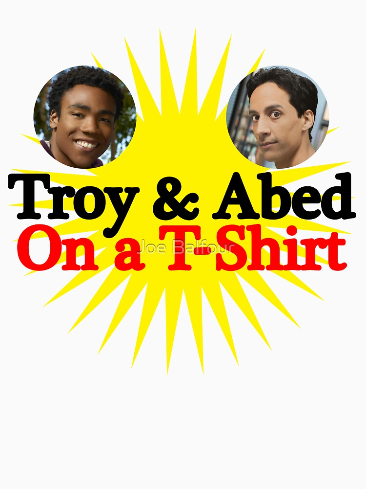 Troy and Abed on a T-Shirt by BalfourJ