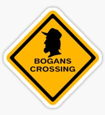 Bogans crossing Sticker