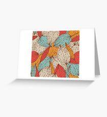 Romantic leaves Greeting Card