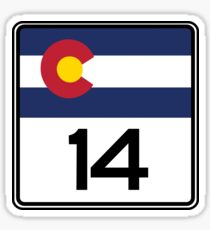 State Highway 14, Colorado, USA Sticker