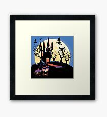 Haunted Halloween Castle 2 Framed Print