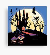 Haunted Halloween Castle 2 Canvas Print