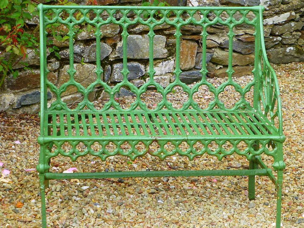 The Green Garden Seat by Fara
