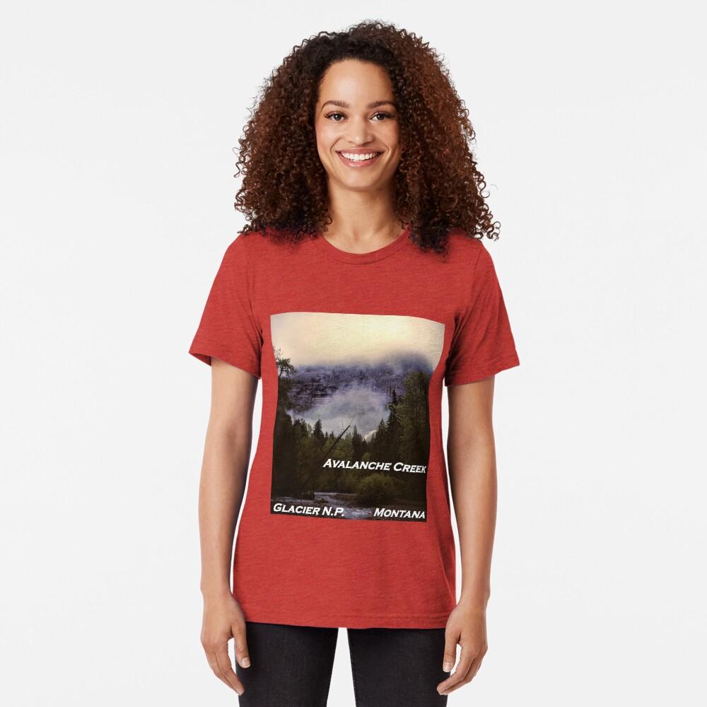 Avalanche Creek, Glacier N.P., Montana Tri-blend T-Shirt