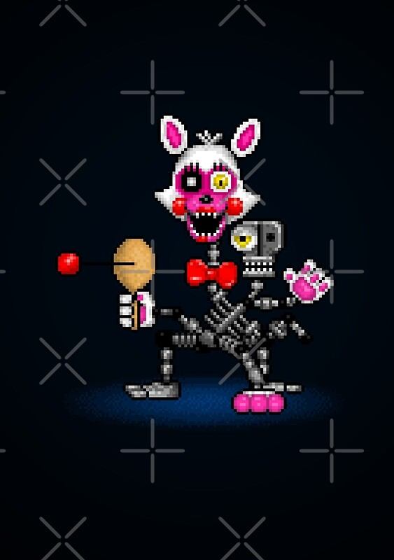 Quot Fnaf World Adventure Mangle Pixel Art Quot Posters By
