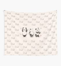 Panda Food Dance Wall Tapestry