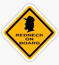 Redneck on Board (diamond) Sticker