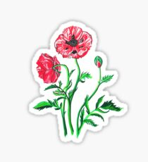 Wild Poppies Sticker
