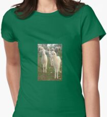 Three Tender Lambs and Five Pieces of Mutton Women's Fitted T-Shirt