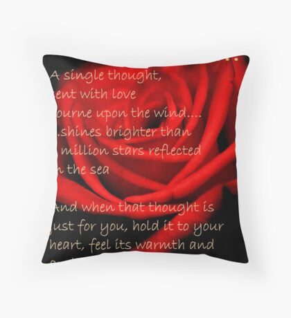 A SINGLE THOUGHT Throw Pillow