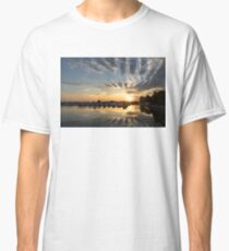 Cloud Alignment - Perfectly Positioned Clouds Emphasize the Sunset Classic T-Shirt