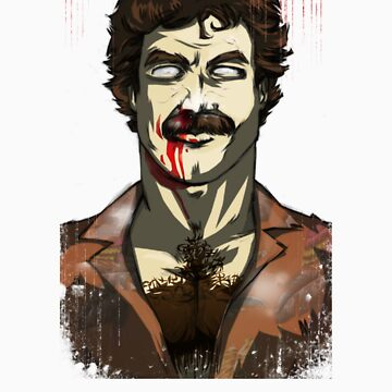 Night of the 80's Undead - Zom Selleck by jasinmartin