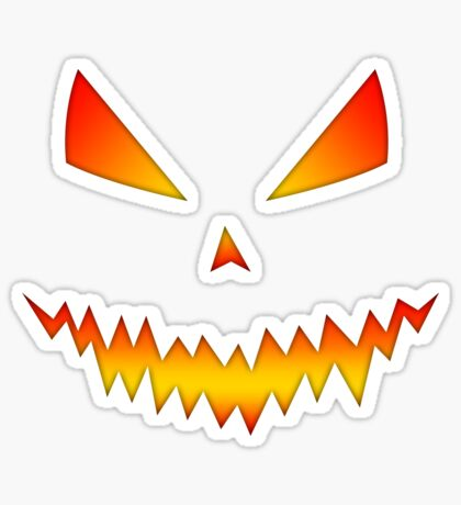 Cool and scary Jack O'Lantern face Halloween  Sticker