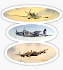 Spitfire Mosquito Lancaster Collage Sticker