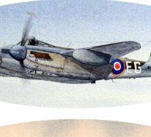 Spitfire Mosquito Lancaster Collage Sticker