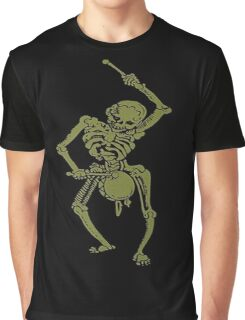 A Zombie Undead Skeleton Marching and Beating A Drum Graphic T-Shirt