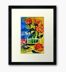 Roses to arrange, watercolor Framed Print