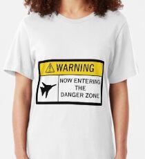 Gefahrenzone - Warnung Slim Fit T-Shirt