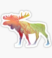 Moose Art Sticker